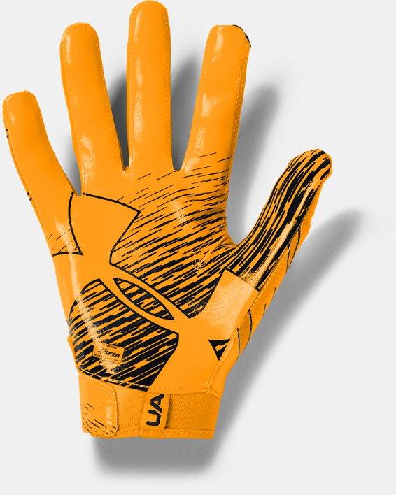 Men's UA F7 Football Gloves, Yellow, pdpMainDesktop image number 1
