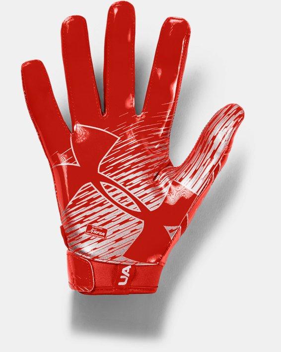 Men's UA F7 Football Gloves, Orange, pdpMainDesktop image number 1