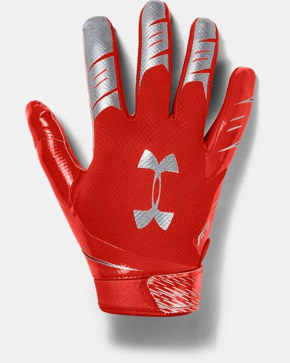 Men's UA F7 Football Gloves, Orange, pdpMainDesktop image number 0