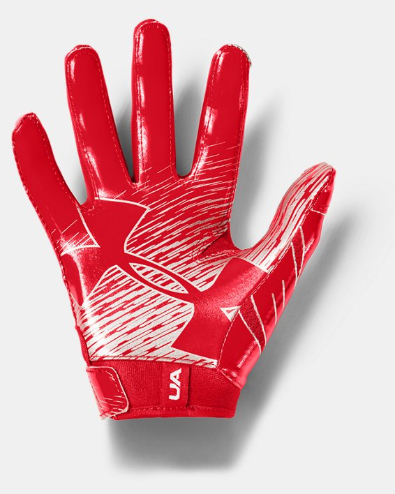 Boys' UA F7 Football Gloves, Red, pdpMainDesktop image number 1