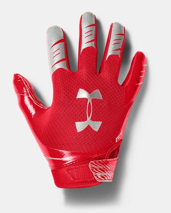 Boys' UA F7 Football Gloves, Red, pdpMainDesktop image number 0