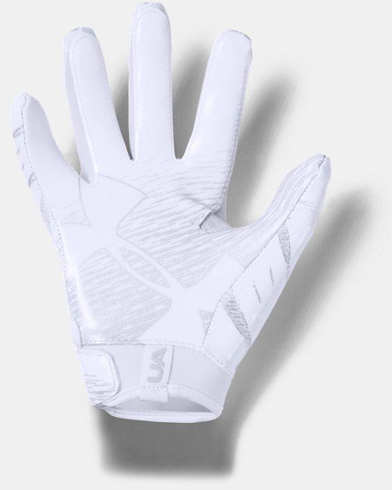 Pee Wee UA F7 Football Gloves, White, pdpMainDesktop image number 1