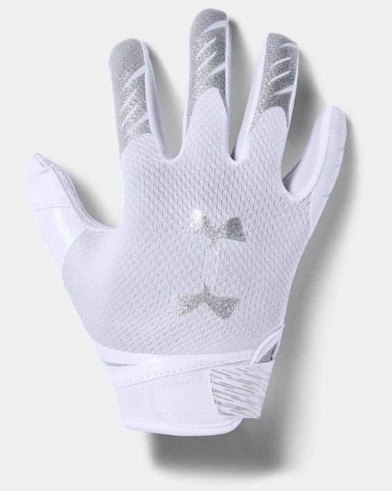 Pee Wee UA F7 Football Gloves, White, pdpMainDesktop image number 0