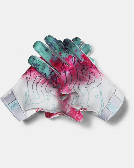 Boys' UA F7 LE Football Gloves, White, pdpMainDesktop image number 2