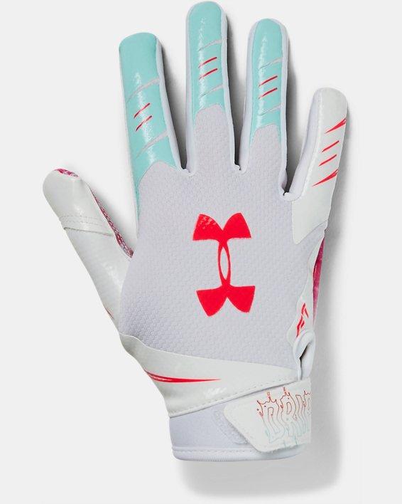 Boys' UA F7 LE Football Gloves, White, pdpMainDesktop image number 0