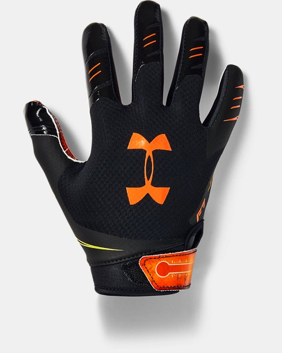 Boys' UA F7 Novelty Football Gloves, Black, pdpMainDesktop image number 0