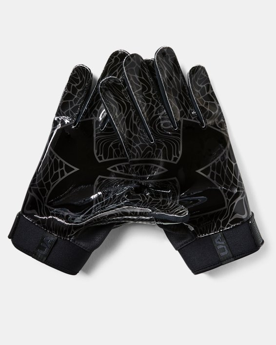 Men's UA Spotlight ColdGear® Football Gloves, Black, pdpMainDesktop image number 1