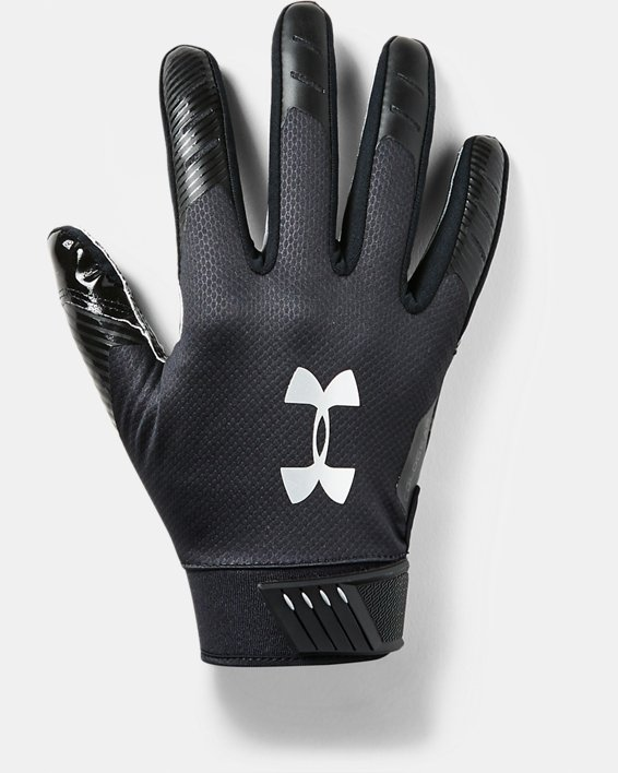 Men's UA Spotlight ColdGear® Football Gloves, Black, pdpMainDesktop image number 0