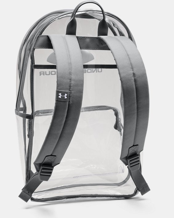 UA Clear Backpack, White, pdpMainDesktop image number 2