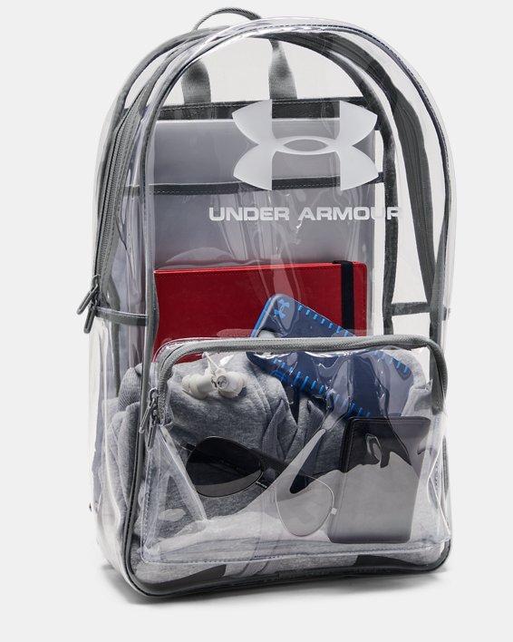 UA Clear Backpack, White, pdpMainDesktop image number 3