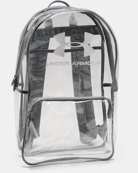 UA Clear Backpack, White, pdpMainDesktop image number 1