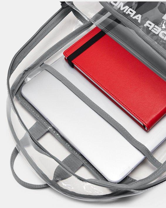 UA Clear Backpack, White, pdpMainDesktop image number 5