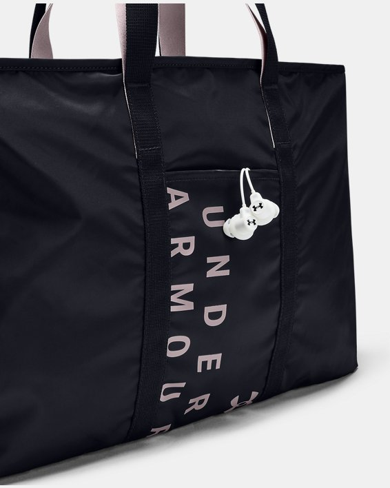 Women's UA Favorite Metallic Tote, Black, pdpMainDesktop image number 3