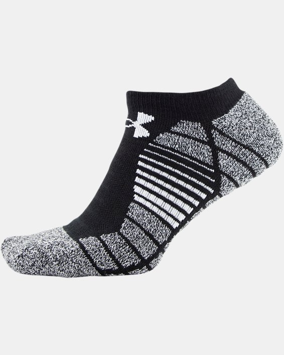 Men's UA Elevated Performance No Show  – 3-Pack Socks, Black, pdpMainDesktop image number 3
