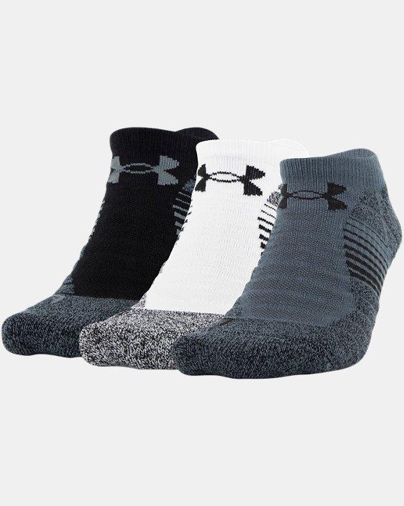 Men's UA Elevated Performance No Show  – 3-Pack Socks, Gray, pdpMainDesktop image number 0