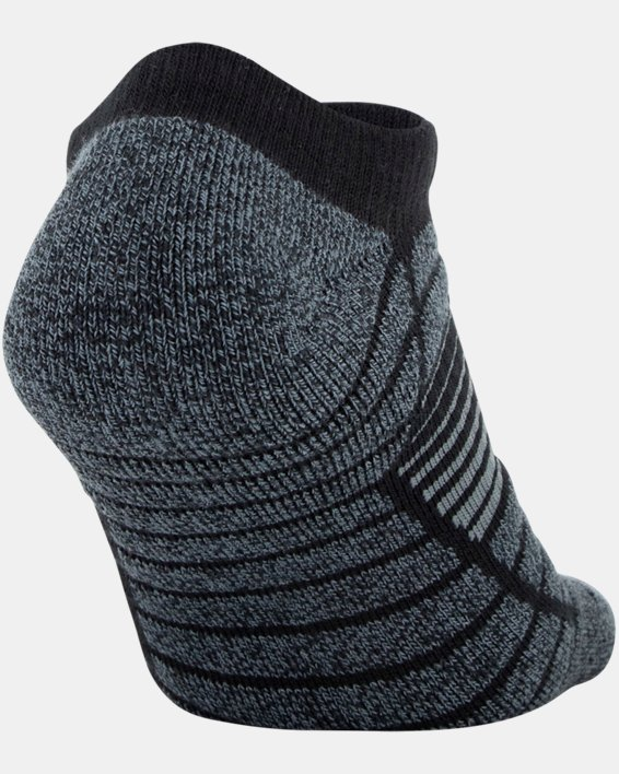Men's UA Elevated Performance No Show  – 3-Pack Socks, Gray, pdpMainDesktop image number 6