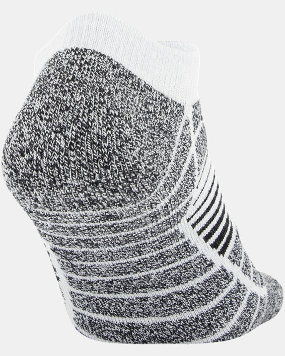 Men's UA Elevated Performance No Show  – 3-Pack Socks, Gray, pdpMainDesktop image number 4