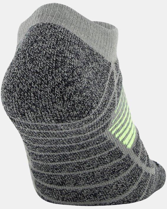 Men's UA Elevated Performance No Show  – 3-Pack Socks, Gray, pdpMainDesktop image number 5