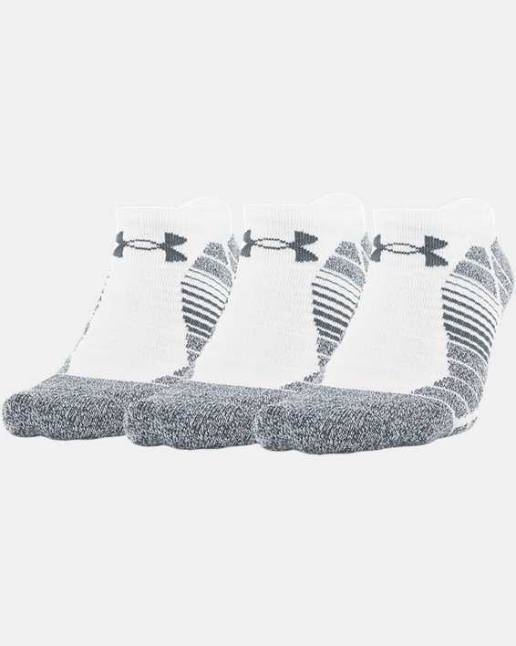 Men's UA Elevated Performance No Show  – 3-Pack Socks, White, pdpMainDesktop image number 0