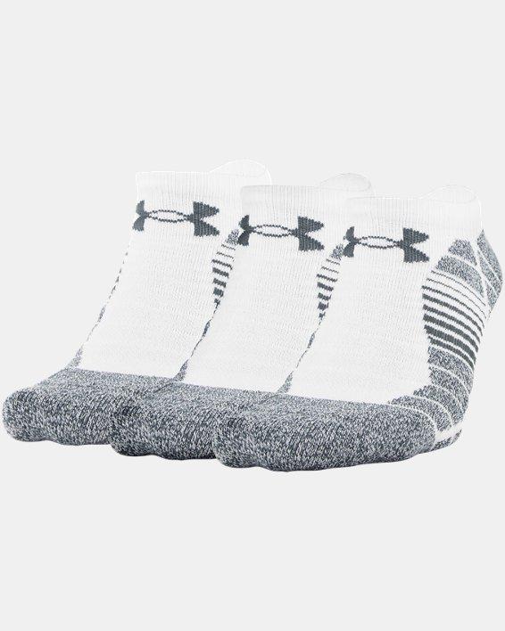 Men's UA Elevated Performance No Show  – 3-Pack Socks, White, pdpMainDesktop image number 1