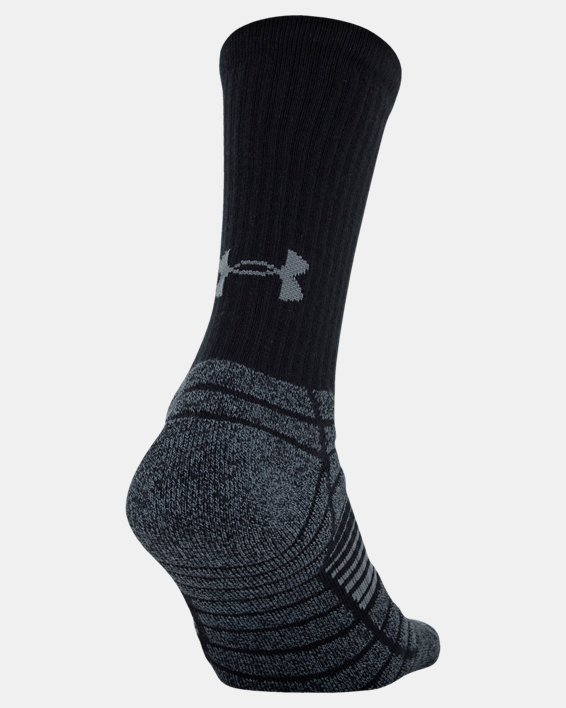 Men's UA Elevated Performance Crew  – 3-Pack Socks, Black, pdpMainDesktop image number 2