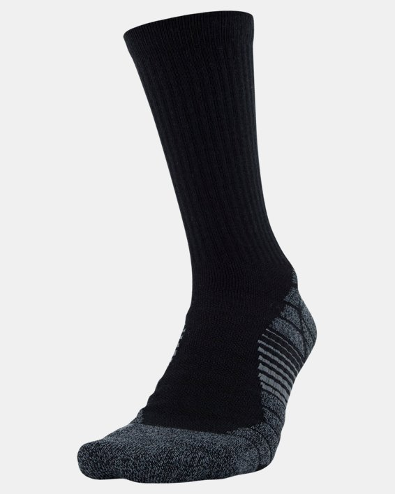 Men's UA Elevated Performance Crew  – 3-Pack Socks, Black, pdpMainDesktop image number 1