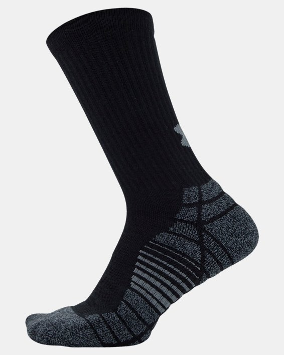 Men's UA Elevated Performance Crew  – 3-Pack Socks, Black, pdpMainDesktop image number 3