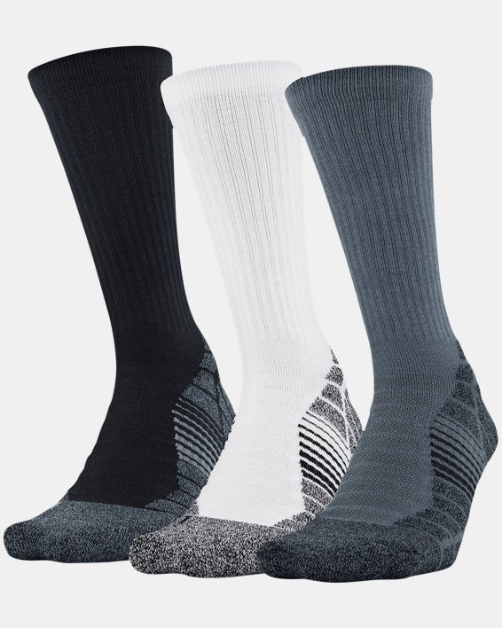 Men's UA Elevated Performance Crew  – 3-Pack Socks, Gray, pdpMainDesktop image number 0