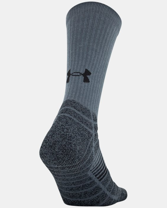 Men's UA Elevated Performance Crew  – 3-Pack Socks, Gray, pdpMainDesktop image number 5