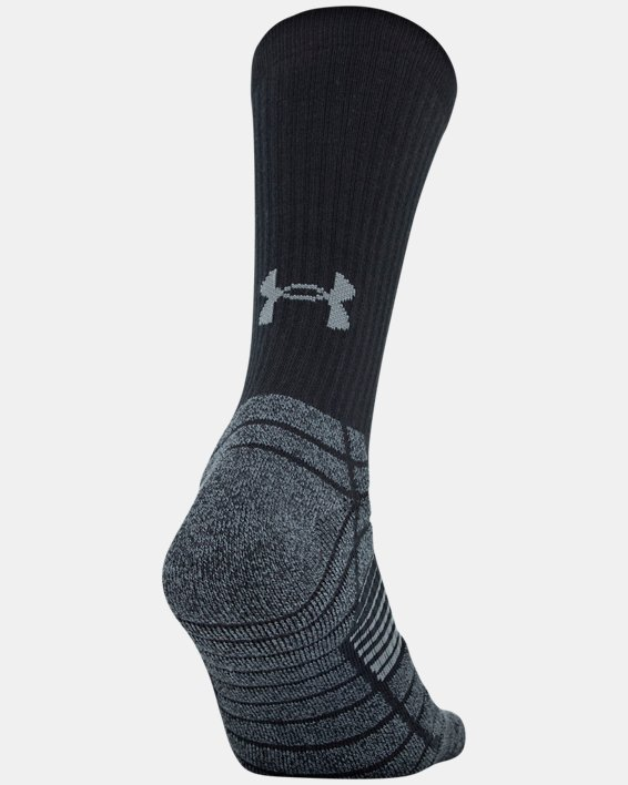 Men's UA Elevated Performance Crew  – 3-Pack Socks, Gray, pdpMainDesktop image number 7