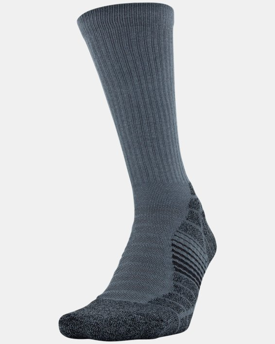 Men's UA Elevated Performance Crew  – 3-Pack Socks, Gray, pdpMainDesktop image number 2