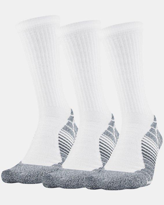 Men's UA Elevated Performance Crew  – 3-Pack Socks, White, pdpMainDesktop image number 0