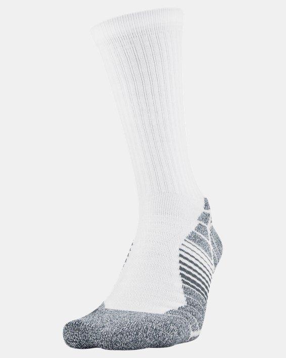 Men's UA Elevated Performance Crew  – 3-Pack Socks, White, pdpMainDesktop image number 1