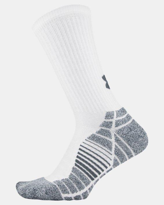 Men's UA Elevated Performance Crew  – 3-Pack Socks, White, pdpMainDesktop image number 3