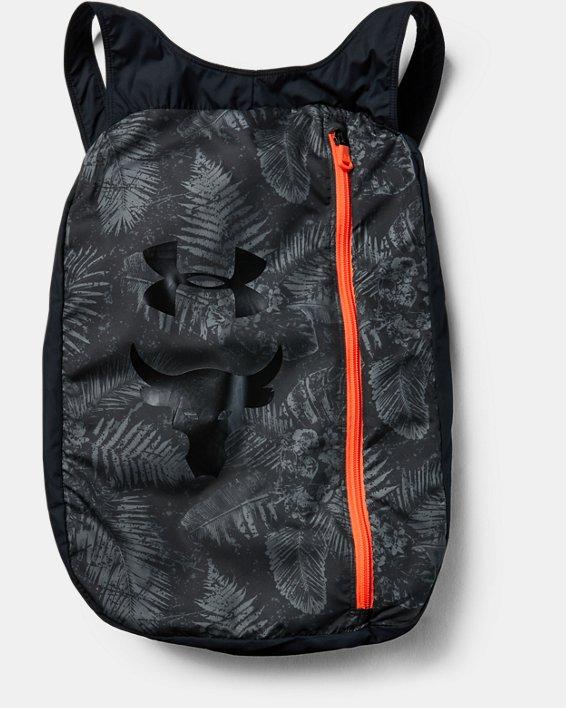 Boys' Project Rock Sackpack Jacket, Black, pdpMainDesktop image number 2