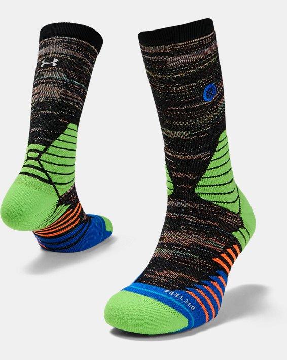 Men's UA x Stance Curry 7 Crew Socks, Blue, pdpMainDesktop image number 0