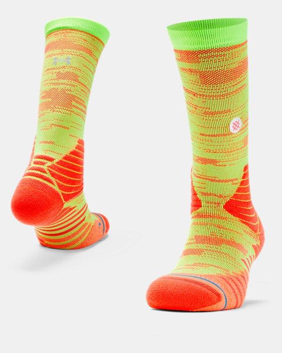 Men's UA x Stance Curry 7 Crew Socks, Red, pdpMainDesktop image number 0