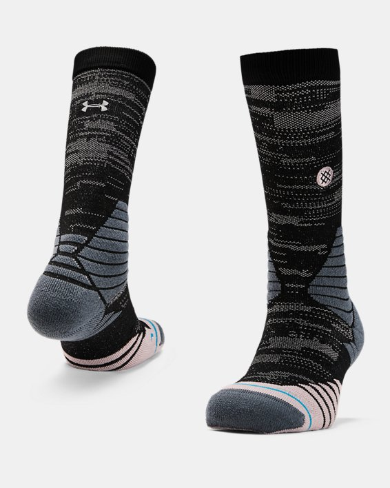 Men's UA x Stance Curry 7 Crew Socks, Pink, pdpMainDesktop image number 0