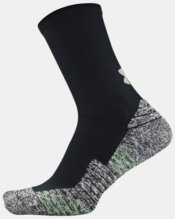 Adult UA Run Cushion Crew Socks, Black, pdpMainDesktop image number 2