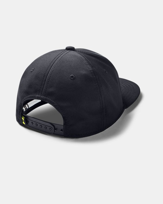 Boy's UA Graphic Flat Brim Cap, Black, pdpMainDesktop image number 1