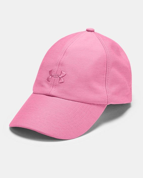 Women's UA Play Up Heathered Cap, Pink, pdpMainDesktop image number 0