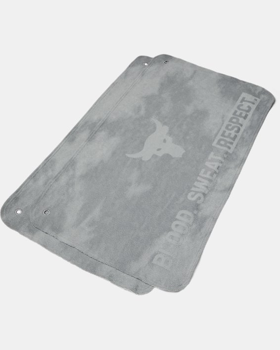 Project Rock Towel 2-Pack, Gray, pdpMainDesktop image number 0
