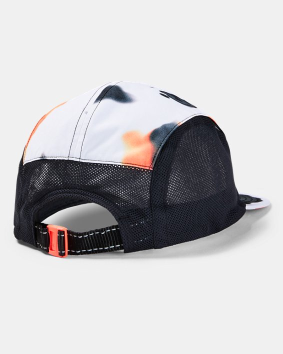 Unisex UA Run Packable Upstream Camo Cap, White, pdpMainDesktop image number 1