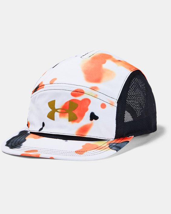 Unisex UA Run Packable Upstream Camo Cap, White, pdpMainDesktop image number 0