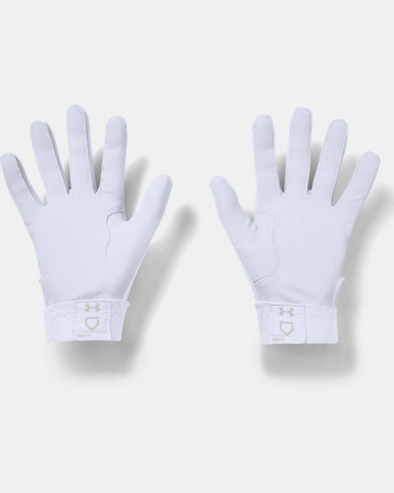 Women's UA Radar Batting Gloves, White, pdpMainDesktop image number 1