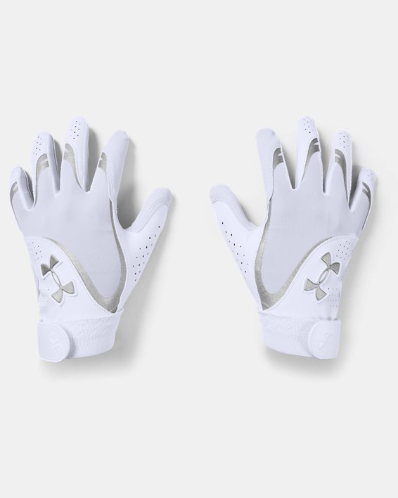 Women's UA Radar Batting Gloves, White, pdpMainDesktop image number 0