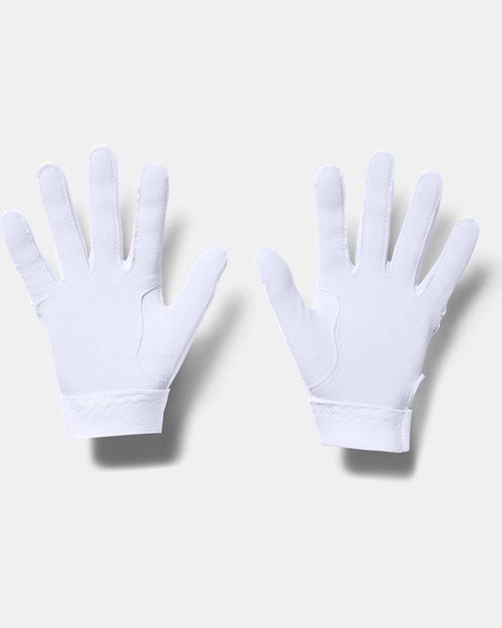 Girls' UA Radar Batting Gloves, White, pdpMainDesktop image number 1