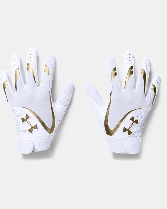 Girls' UA Radar Batting Gloves, White, pdpMainDesktop image number 0