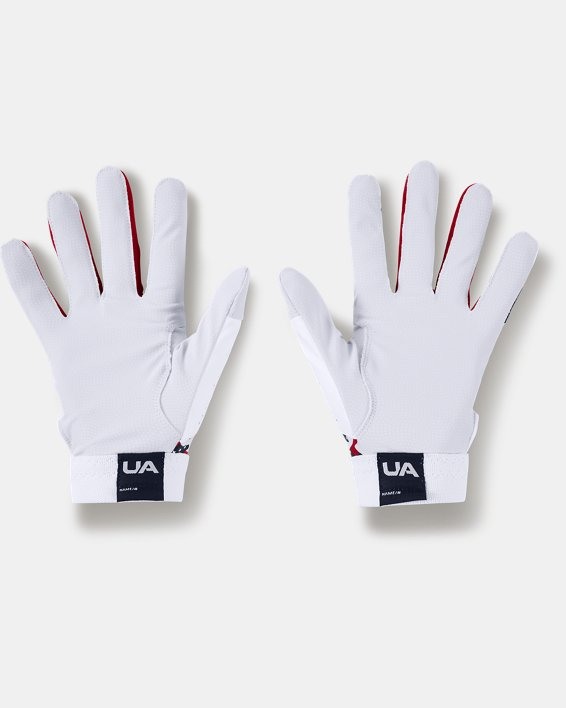 Men's UA Clean Up Culture Batting Gloves, White, pdpMainDesktop image number 1