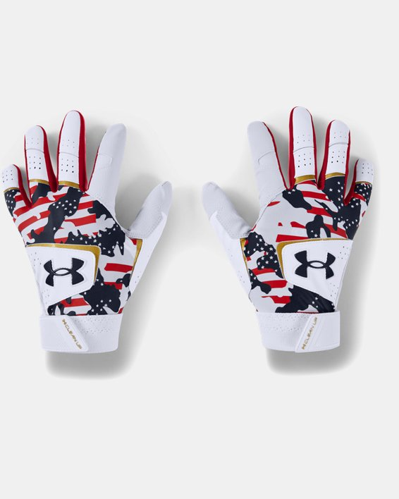 Men's UA Clean Up Culture Batting Gloves, White, pdpMainDesktop image number 0
